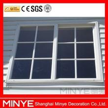 UPVC profile double glazed sliding windows /plastic slider window
