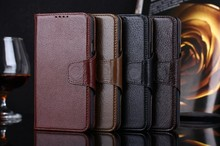 luxury business PU leather cover for samsung S5.with credit card slot and stand,