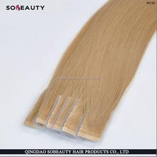 2016 Hot Chritsmas Top Grade Wholesale Private Label super sticker mini flower tape hair extensions