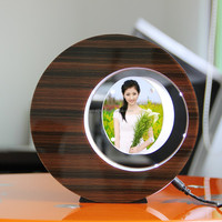 LED suspending in the air magnetic levitation photo frame delicate best man gifts