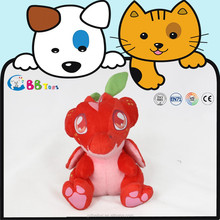 2015 new animal plush toys red plush dinosaur toys for childen