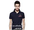 Falso 100% nuevo diseño camiseta del polo, camisa de polo del golf para hombre, impresión de la insignia