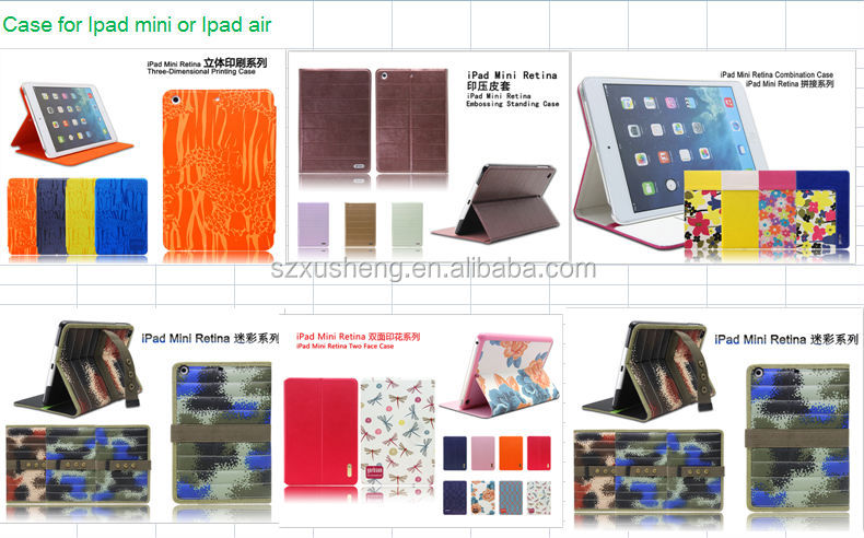 Merry Christmas Nice PU Leather Flip Cover Case for ipad 2 3 4