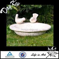 Garden Granite Handmade Stone Water Trough Bird Bath / Bird feeder