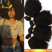 Fashion Afro Kinky Curly Indian Remy Hair Weave 7A Unprocessed Afro Kinky Curly 100% Virgin Indian Human Hair Extensions