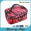 Lady's zebra printing cosmetics beauty case
