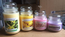 YANKEE STYLE SCENTED GLASS JAR CANDLE