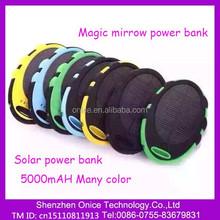 5000 mah Magic solar power bank&Solar charger for mobile phone&cute power bank
