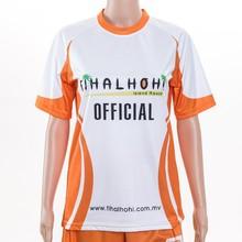 full sublimation Kids Soccer Uniforms Cheap orange