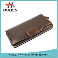 America area funny 2 folds handmade leather travel wallet , business clutch purse