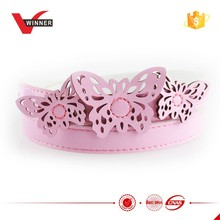 pink color girl's butterfly buckle belts