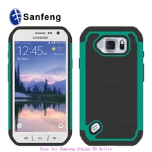 wholesale combo tpu+silicone case for Samsung Galaxy S6 Active G890 phone case