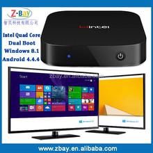 Win8 Mini PC CX-W8 Intel Atom Z3735F 1.33Ghz CPU Quad-core Smart Computer 2GB DDR3 32GB ROM Portable Intel TV Box HD