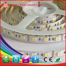 CE/ROHS approved 5000k 5050 smd led strip light 5050 120 SMD/M IP20 12V/24V DC 120W led strip led strip lights installation