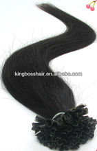 Fusion Prebond Keratin Nail Hair Extension (U-Tip).Brazilian Virgin Remy Hair 100S,Tangle Free