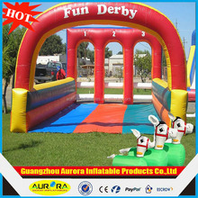 Factory direct inflatable 3 lane Fun Derby cheap on sales