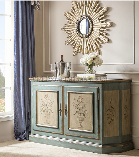 Vintage Hand Painted Console Table With Mirror Home