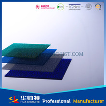 long life clear UV pc embossed sheet