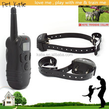 2-Dog Training Electric Shock Dog Collar Waterproof with LCD Remote Control