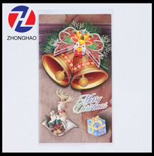 2015 new arrived Christmas design with glitter special machine made printed craft greeting card