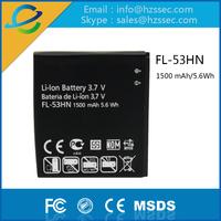 Long life 1500mAh mobile phone battery for LG FL 53HN