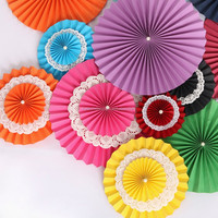 Foldable Two-layer paper flower for party decoration,wedding decoration, valentine's day gift