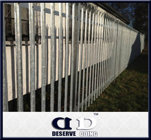 cheap wrought iron metal palisade fence used outdoor /garden /farm /backyad
