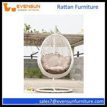 Indoor/outdoor rattan hammock swing egg chair