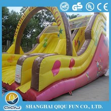 Clown character inflatable dry slide for sale