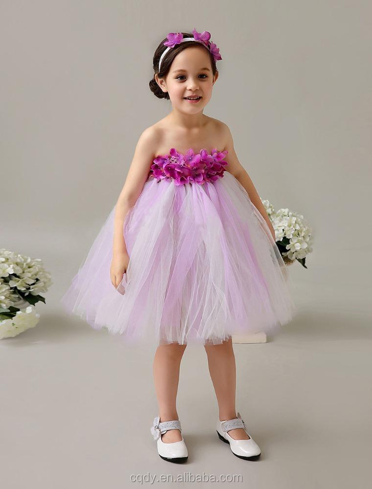 Flower Children Baby Girl Birthday Dresses fancy Frock