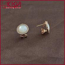 plata 925 al por mayor earring card 925 sea shell pearl jewelry