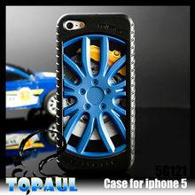 2013 design de moda 3d galvaniza série de rodas de carro esporte pneus logo caso para iphone 5