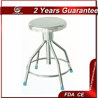 LG-ST044 Rolling height adjustable full stainless steel lab stool