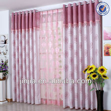 MT 4565 indian curtain window curtain drape flocking curtain fabric