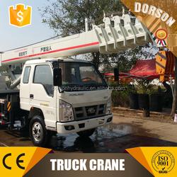 SHANDONG 8 ton truck crane / mini truck with crane for sale