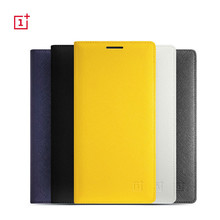 1:1 original battery cover leather flip case For Oneplus 2
