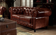 Best selling Factory Price High Quality leather Chesterfield sofa AF001