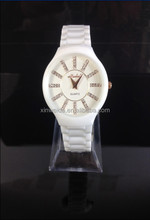 high quality luxury lady ceramic watch with Japan quartz movement OEM