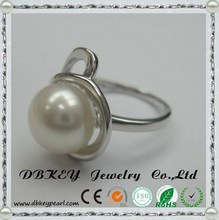 Freshwater pearl ring 925 silver jewelry fashionable female ring direct origin