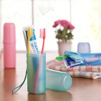 2015 Hot Sale Popular Colored Convenient Travel Camping Toothbrush Toothpaste Holder Case