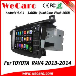 "Wecaro Android 4.4.4 radio gps 2 din 8"" for toyota rav4 car pc 1.6 ghz cpu A9 cpu 2013 2014"