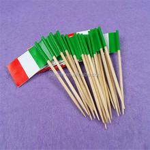 Decoración para el partido de coctel de papel palillo banderas