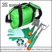 2015 top quality home use mini 5pcs muiltifunshion garden tools in bag