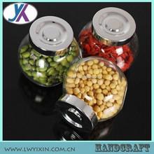 Storage wholesale jam jars cheap airtight glass jars unique shaped glass bottles