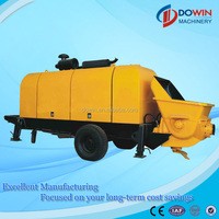 good quality flexible used trailer concrete pump