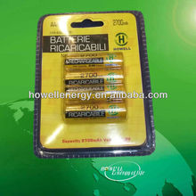 2700mAh AA NiMH Rechargeable Battery/AA AA Battery