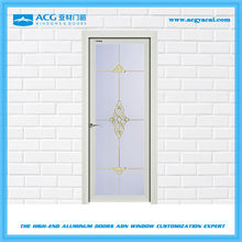 Economical and practical interior single swing frosted glass door