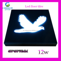 led tile light 400*400mm 12w IP65 Epoxy resion with red/yellow color