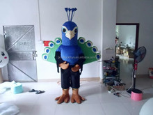 2016 Peacock party costume for sale,cartoon sexy peacock costume for advertising