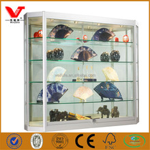 Upgrade jewelry wall mounted wholesale glass display cases